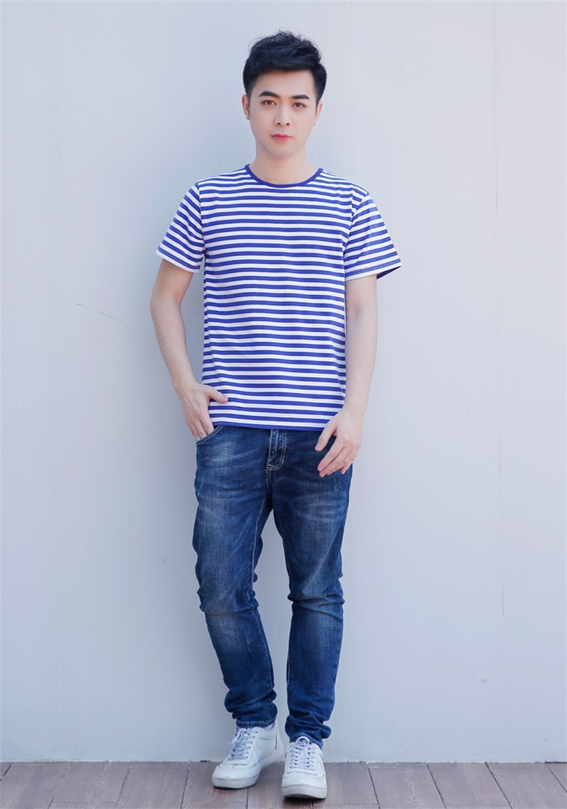 Blue Striped T Shirt