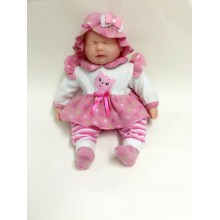 "18"" Pink White Dress Baby Doll"