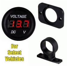 Mini 12 Volt DC Voltage Battery Power Voltmeter Gauge Kit for Vehicle Car, Boat, etc