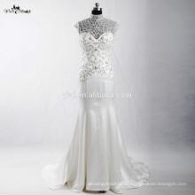 RSW907 desmontable Illustion escote Sexy Strapless See-Through diseños de bordado para el vestido de boda sirena