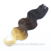 6A Wholesale brazilian hair body wave ombre color hair weft, Ombre color human hair weft