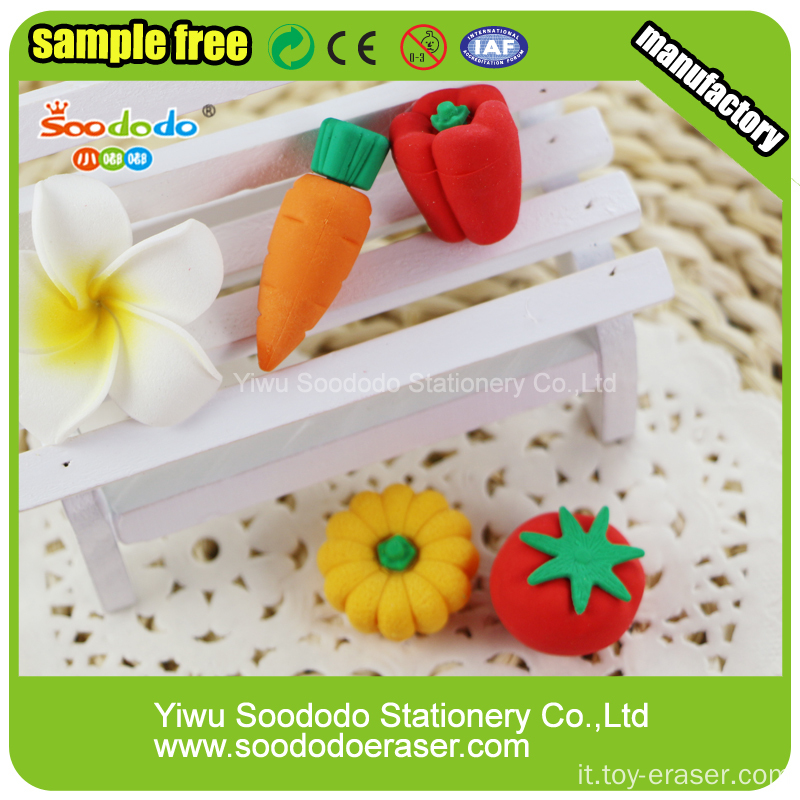 3D Strawberry Cup Cake Eraser a forma di