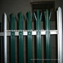 Hohe Qualität D oder W Pales Palisade Zaun PVC Fertigung