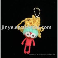 Mode handgemachte Voodoo Puppe Keychain Schnurpuppe