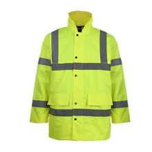 Winter Strip Yellow Safety Jacket Coat