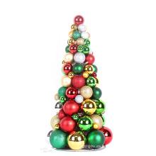 2017 nuevo árbol plástico de la bola de la Navidad del estilo