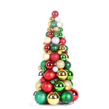 2017 new style plastic christmas ball tree