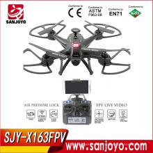 Venta caliente SJY-X163FPV 5.8G FPV Drone con monitor LCD de transmisión Quadcopter VS CX20 X8W Drone sin escobillas