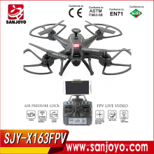 Hot sale SJY-X163FPV 5.8G FPV Drone with LCD Monitor transmission Quadcopter VS CX20 X8W Brushless drone