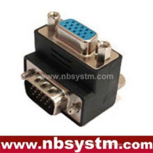 Angle adaptateur VGA à 90 degrés mâle à femelle