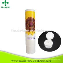 Crema para blanquear de plástico Crema para manos con tapa superior con tapa