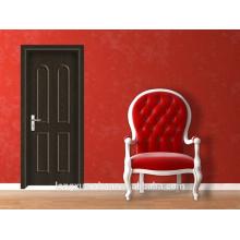 Preço mais barato madeira porta interior porta PVC / MDF