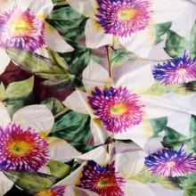 Tela de cortina impressa poliéster barata / Melhor tecido escovado barato