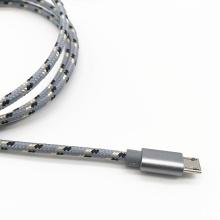 Câble de charge USB tressé en nylon pour Samsung S7