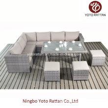 Neue Sofa Tisch für Outdoor in gebürstetem Grau (1404)