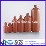 amber PE bottle with screw cap