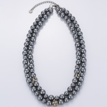 China New Product for Beaded Necklaces Artificial Gray Pearl Necklace Online Cheap export to Vietnam Factory