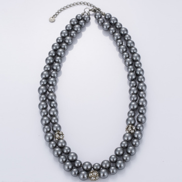 Artificial Gray Pearl Necklace Online Cheap