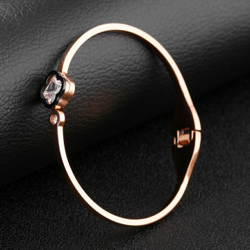 New Fashion Cubic Zirconia Rose Gold Bangle Armband