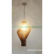 blown glass pendant lamp
