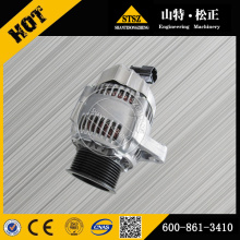 Komatsu excavator spare parts komatsu PC200-7 alternator 600-861-3410