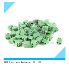 300V 10A 2 Positions 3.5mm Pitch Pluggable Terminal Block Green
