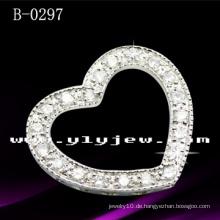 925 Sterling Silber Herz Anhänger mit CZ (B-0297)