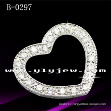 925 Sterling Silver Heart Pendant with CZ (B-0297)