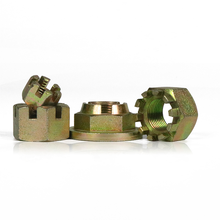 Grade 4.8 Carbon Steel Yellow Zinc Plated Hex Thin Castle Nut DIN979