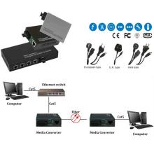 10 / 100m único modo de fibra óptica Media Converter