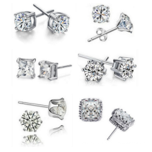 Mix designs of Crystal Earrings Zirconia Earrings Ladies Stud earrings