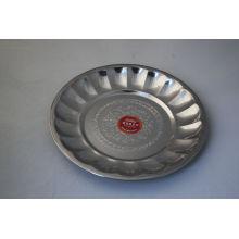 Flower Design Stainless Steel Dinner Plate