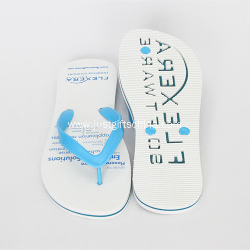 Promotional Flip Flops With Debossed Infilled