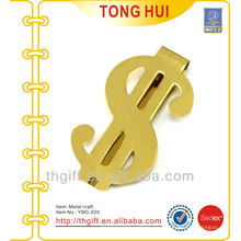 Metal Gold $ symbol Brass Geld Clips