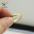 New design jewelry gold-plated stainless steel ring