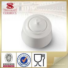 Accessoires de cuisine de style turc, pot de sucre blanc en porcelaine personnalisé