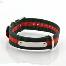 Bracelet en cuir tressé de style européen fait à la main pour les hommes