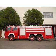 Howo tanque de agua de espuma de lucha contra incendios camión
