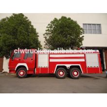 Howo tanque de água espuma de combate a incêndio caminhão