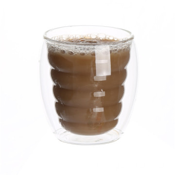 Wholesale Price for Buy Double Wall Milk Coffee Mug,Handmade Glass Milk Mug Online In China Borosilicate Double Wall Glass Cup for Coffee export to French Polynesia Suppliers