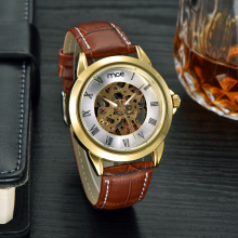 own logo crystal mineral glass case display mechanical watch