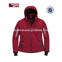 Gros fitness sport imperméable à l'eau softshell veste, veste de vent de haute qualité en plein air, hiver veste homme
