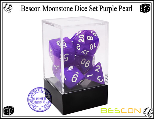 Purple Pearl Dice Set-3
