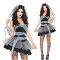 Halloween Dark Queen Babydoll Devil Angel Lace Lingerie Sexy 4pcs Suits Underwear