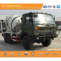 DONGFENG 6X6 military concrete mixer truck 5m3