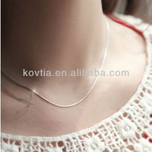 2014 Korean popular 925 sterling silver chain necklace