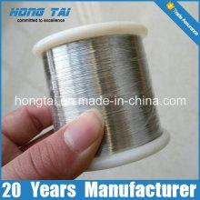 99,9% de fil de nickel pur 0,025 mm