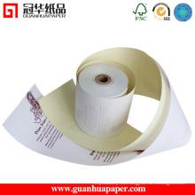 Rollos de papel autocopiativo de calidad superior 2 Ply NCR SGS