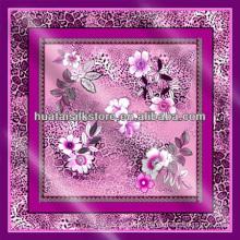 100% silk Turky leopard floral Scarf