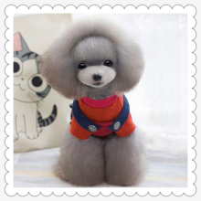 Manufacturers, wholesale pet clothes dog clothes cute chick turned legs clamping cotton clothes